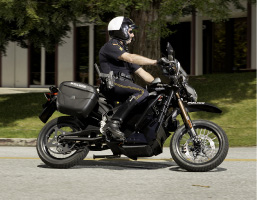 2012 Zero DS Police Motorcycle, on location