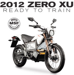 2012 Zero XU - Ready to Train, Meets Motorcycle Safety Foundation Requirements