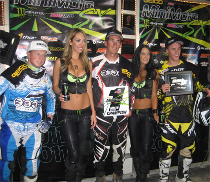 2011 AMA Minimoto Winners, Jamie Lanza, Blake Mitchell, Chris Green