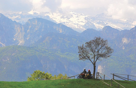 Leading motorcycle travel company offers emissions-free Alpine tours