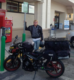 Terry Hershner rode his 2012 Zero S 3,500 miles in a total of six days