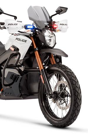 100% Electric Zero DS Police Motorcycle